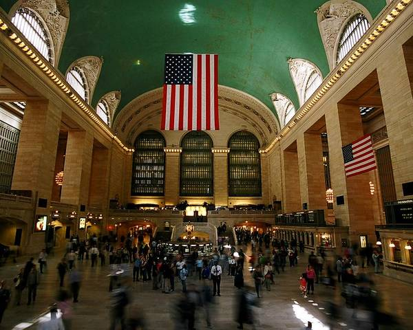 Grand Central Station Poster featuring the photograph Grand Central Station by Caroline Clark