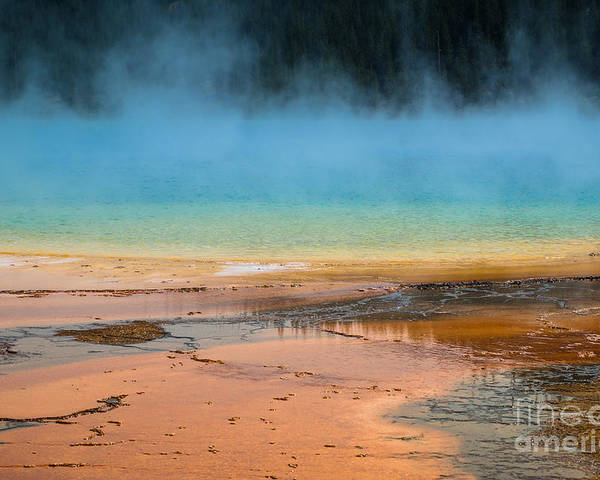 Yellowstone Poster featuring the photograph Grand Prismatic by Sandra McNair