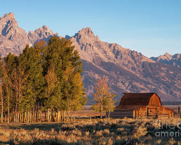 Jackson Hole Poster featuring the photograph Grand Teton Mountain View by Bob Phillips