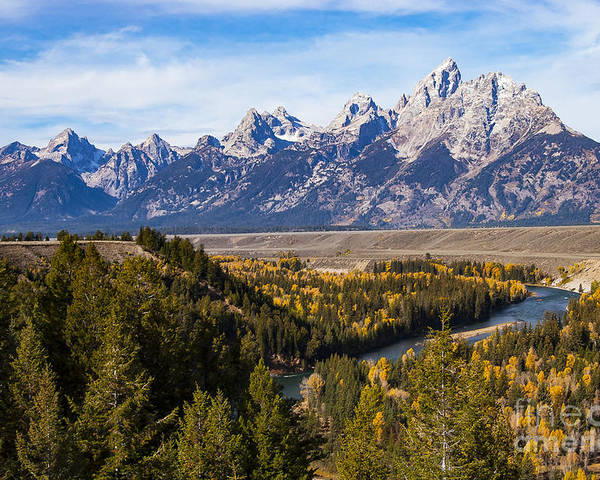 Grand Teton National Park Poster featuring the photograph Grand Teton Mountains by Bob Phillips