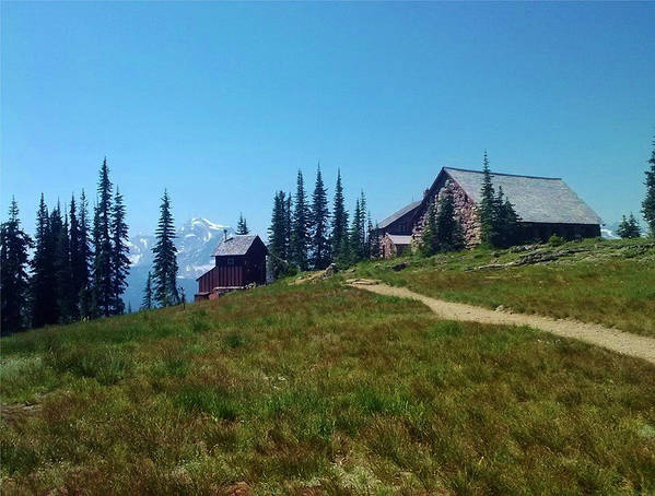 Mountain Poster featuring the photograph Granite Park Chalet by Eric Fellegy