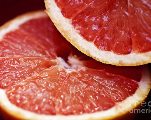 Circle Poster featuring the photograph Grapefruit Halves by Ray Laskowitz - Printscapes