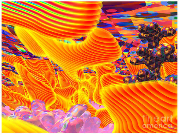 Psycho-delic; Digital Art; Surrealism; Abstract Poster featuring the digital art Great Art 3a by Terry Anderson