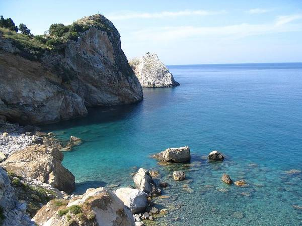 Greece Poster featuring the photograph Greece Skiathos Kastro by Yvonne Ayoub
