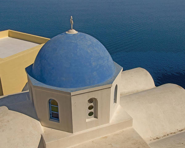 Greek Island Poster featuring the photograph Greek Island Dome by Charles Ridgway