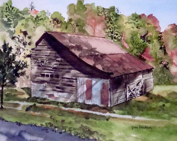 Barns Poster featuring the painting Green Creek Barn by Jean Blackmer