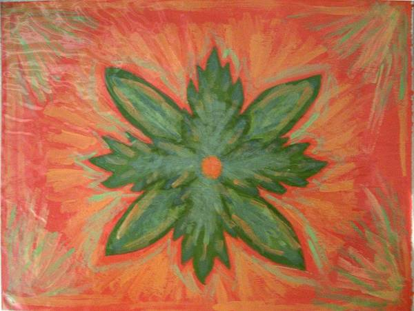 Flower Poster featuring the painting Green Dream by Laura Lillo