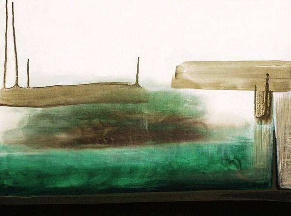 Abstract Poster featuring the painting Green I by Ofelia Uz