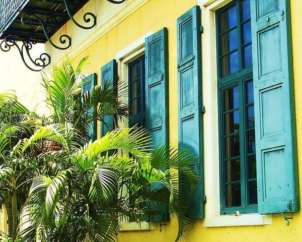 Architecture Poster featuring the photograph Green Shutters by Debbi Granruth