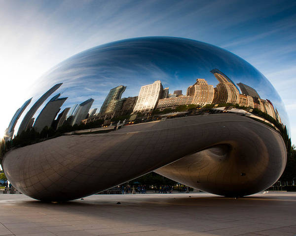 Chicago Poster featuring the photograph Greeting The Sun by Daniel Chen
