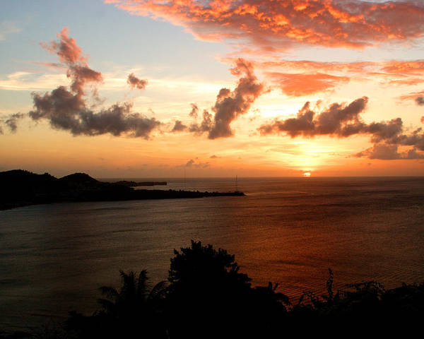 Sunset Poster featuring the photograph Grenadian Sunset II by Jean Macaluso