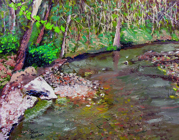 Plein Air Poster featuring the painting Gressy Creek by Stan Hamilton