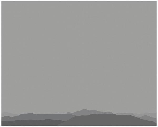 San Jacinto Mountain Range Poster featuring the mixed media Grey San Jacintos by Stan Magnan