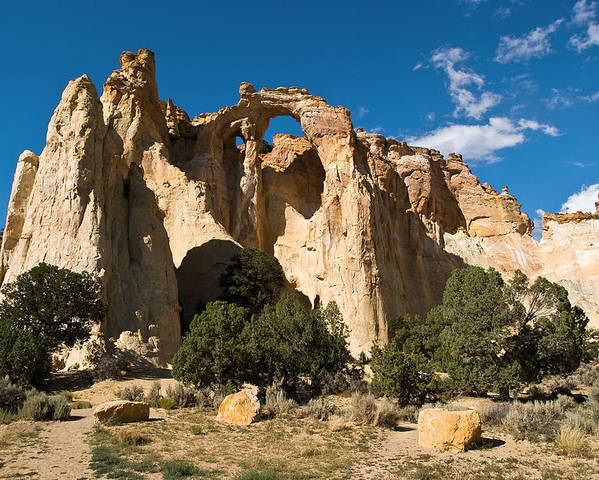 Grand Staircase Escalante Monument Poster featuring the photograph Grosvenor Arch by James Marvin Phelps