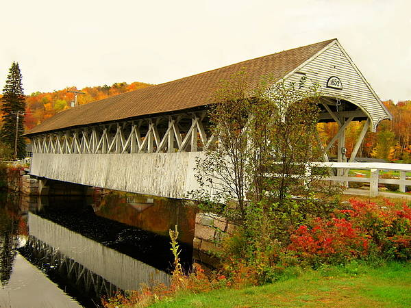 Nh Poster featuring the photograph Groveton-northumberland Covered Bridge by Wayne Toutaint