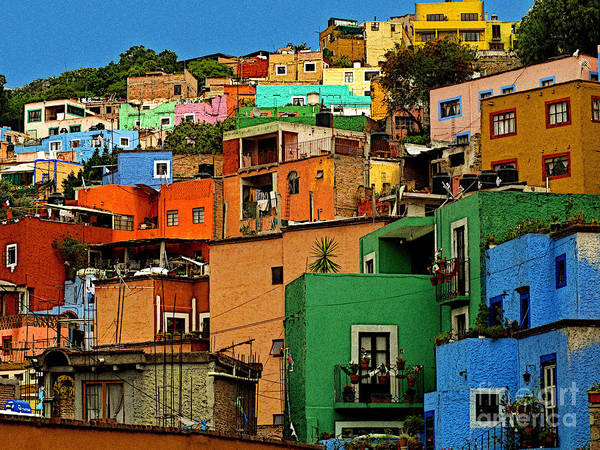 Darian Day Poster featuring the photograph Guanajuato Hillside 1 by Mexicolors Art Photography
