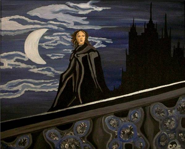 Night Poster featuring the painting Guardian by Carolyn Cable