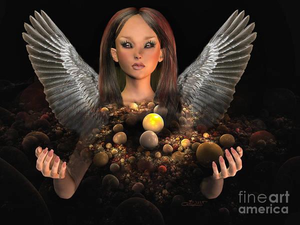 3d Poster featuring the digital art Guardian by Jutta Maria Pusl