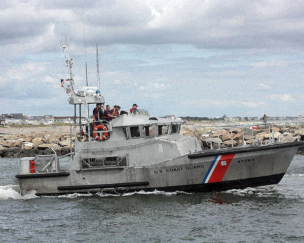 Coast Guard Poster featuring the photograph Guarding The Coast by Mary Haber