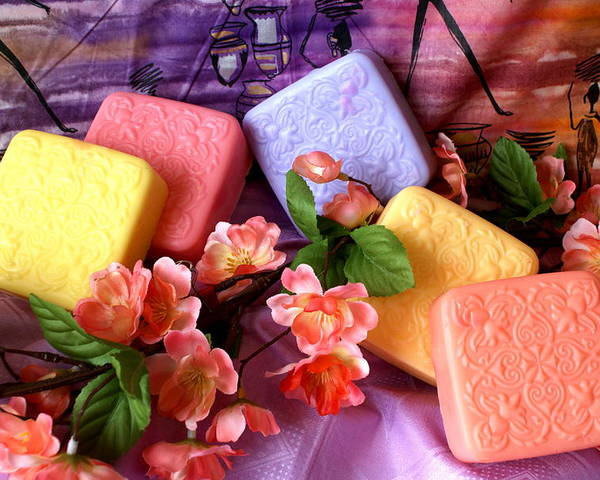 Product Poster featuring the photograph Guest Soaps by Sonja Anderson
