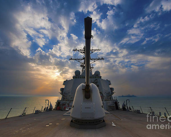 Uss Higgins Poster featuring the photograph Guided-missile Destroyer Uss Higgins by Stocktrek Images