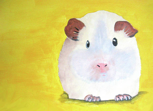 Guinee Poster featuring the painting Guinee Pig by Darren Stein