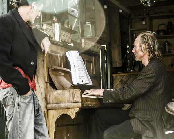 Piano Player Poster featuring the photograph Gypsy Music by Jamie McConnachie