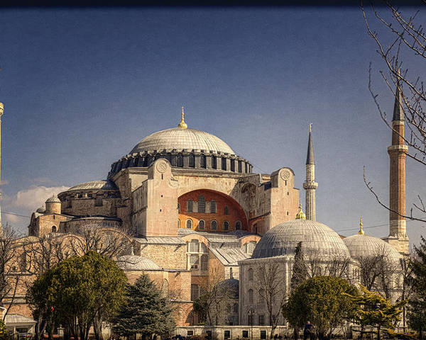 Hagia Sophia Poster featuring the photograph Hagia Sophia by Joan Carroll
