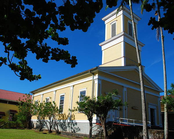 Christian Poster featuring the photograph Haili Church - Hilo Hawaii by Steven Rice