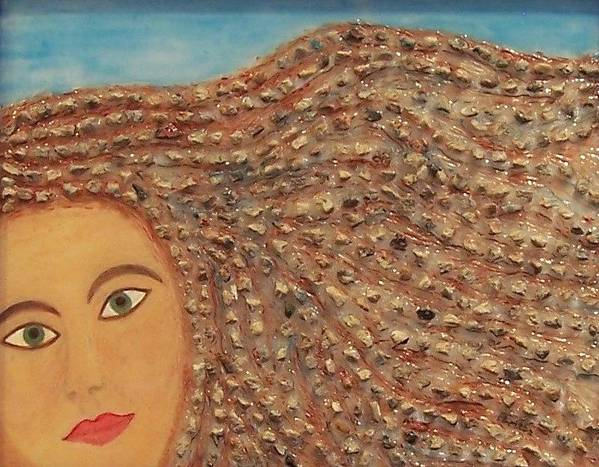 Original Fine Art Poster featuring the painting Hair by Anneliese Fritts