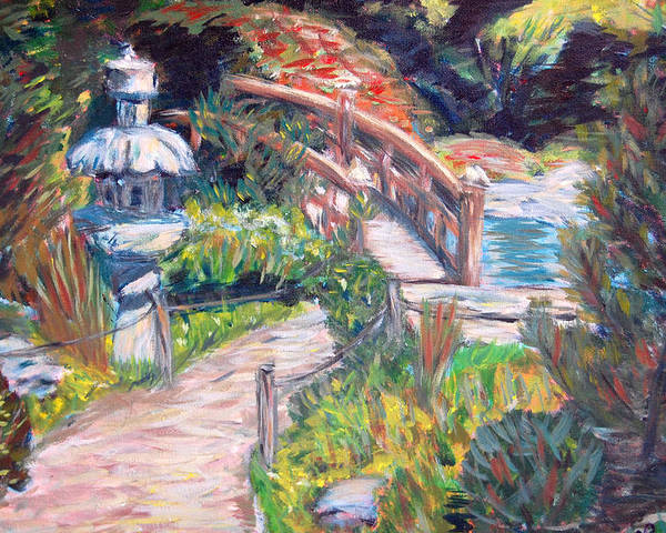 Hakone Garden Poster featuring the painting Hakone by Carolyn Donnell