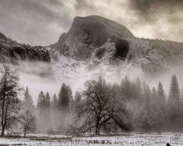 Beautiful Poster featuring the photograph Half Dome In Winter by Connie Cooper-Edwards