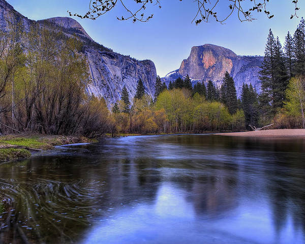 Half Dome Poster featuring the photograph Half Dome Near Sunset by Jim Dohms