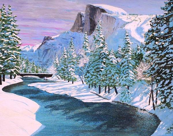 Yosemite National Park Poster featuring the painting Half Dome by Paul Larson