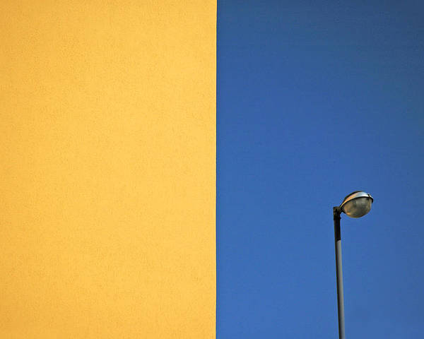 Urban Poster featuring the photograph Half Yellow Half Blue by Silvia Ganora