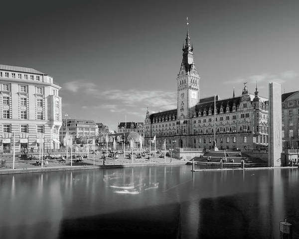Hamburg Poster featuring the photograph Hamburg - Binnenalster by Marc Huebner