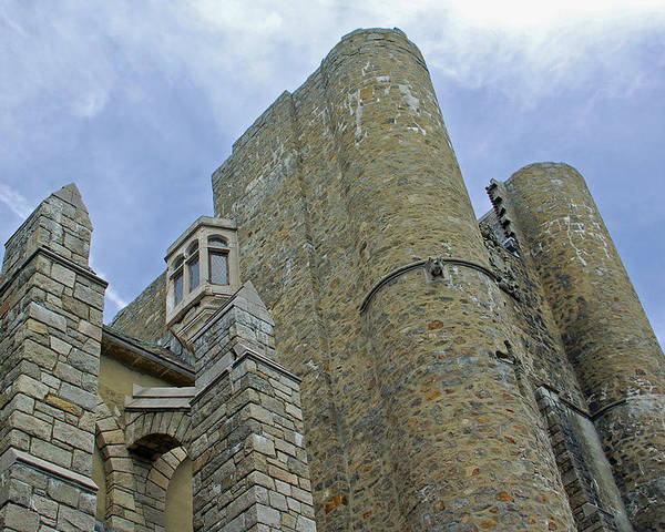 Hammond Castle Poster featuring the photograph Hammond Castle Detail - Gloucester Ma by Suzanne Gaff