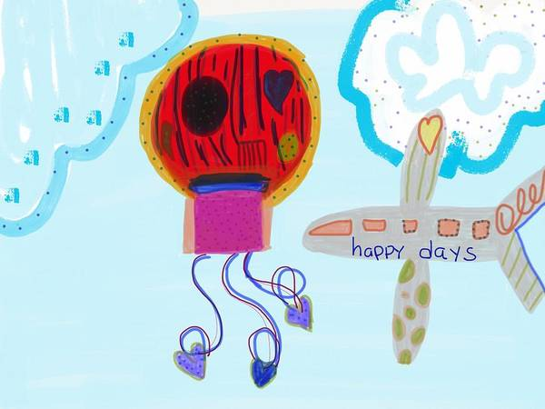 Happy Days Poster featuring the digital art Happy Days by Suzi Gould
