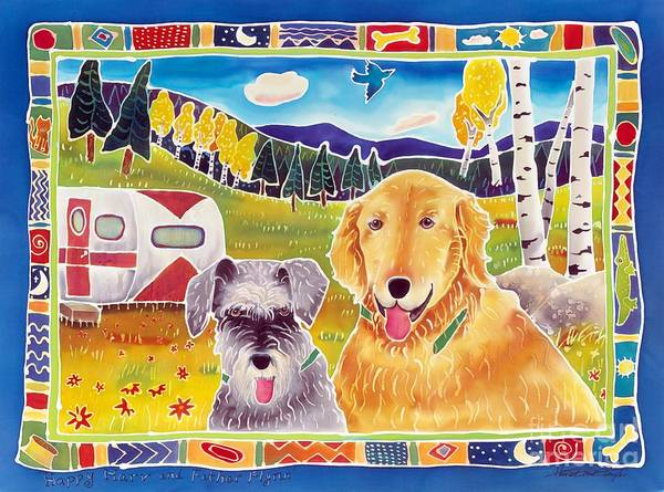 Dog Poster featuring the painting Happy Harv And Father Flynn by Harriet Peck Taylor