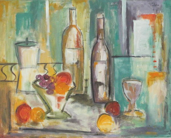 Abstract Poster featuring the painting Happy Hour I by Trish Toro