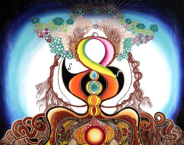 Spirituality Poster featuring the painting Hari Tao by Padmananda