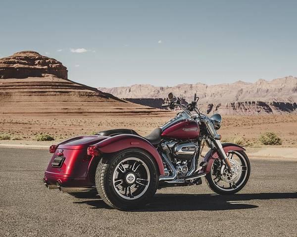 Harley-davidson Freewheeler Poster featuring the digital art Harley-Davidson Freewheeler by Super Lovely
