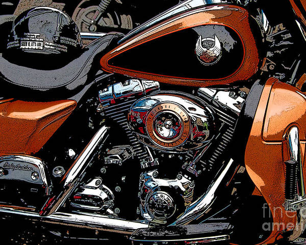 Diane Berry Poster featuring the photograph Leather and Chrome by Diane E Berry