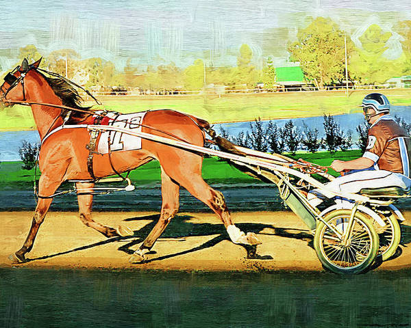Horse Poster featuring the painting Harness Racer by Clarence Alford