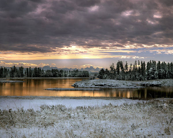 Idaho Scenics Poster featuring the photograph Harriman Winter by Leland D Howard