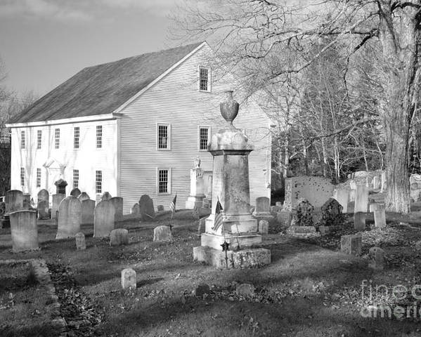 Maine Poster featuring the photograph Harrington Meetinghouse -bristol Me Usa by Erin Paul Donovan