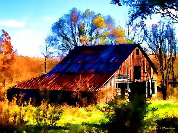 Barn Poster featuring the photograph Harrison Barn by Kathy Tarochione