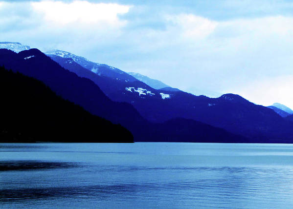 Mountains Poster featuring the photograph Harrison Lake BC Canada by Pam Ellis