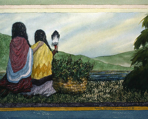 Landscape Poster featuring the painting Harvest Blessing by Lynda Hoffman-Snodgrass