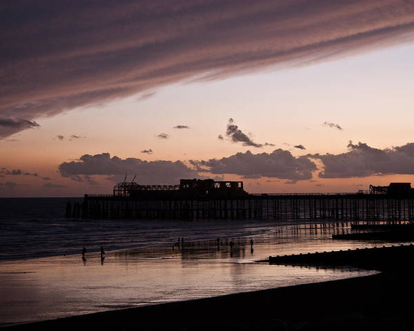 Hastings Pier Poster featuring the photograph Hastings Pier by Dawn OConnor